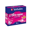 DVD-RAM,  3x  Branded  Cartridge  Type IV 5 pack